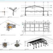 Shop Drawings with Steel Structure Detailing